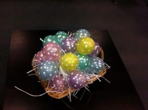balloon easter eggs
