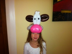 balloon cow hat