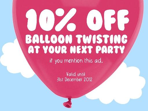 Balloon Twisting Discount