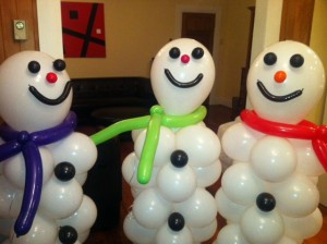Balloon Snowmen